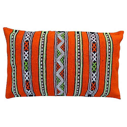 Orange Moroccan Berber Pillow Sham