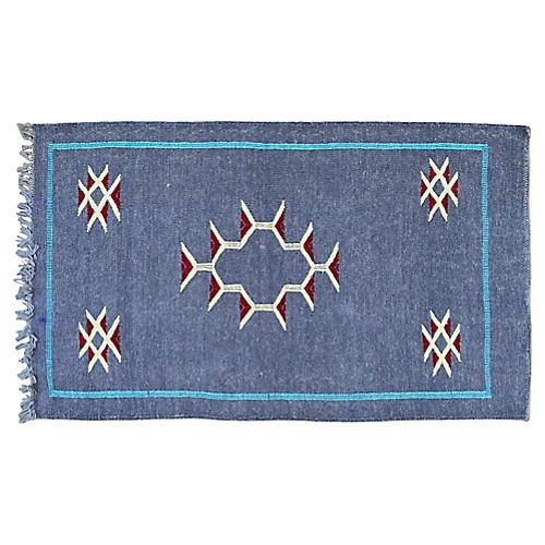 Moroccan Silk Kilim, 3'x1'10''