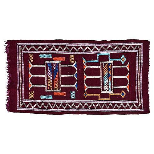 "Moroccan Rug, 3'3"" x 1'9"""