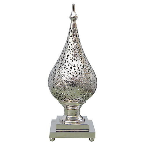 Moroccan Silver Engraved Light Fixure