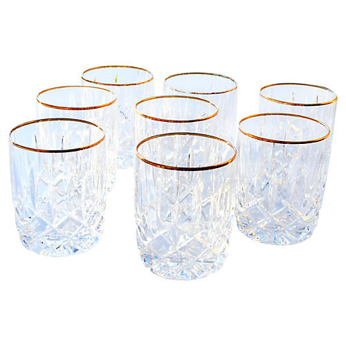 Crystal Rocks Glasses, S/8