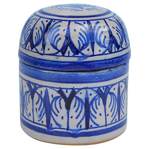 Blue Moroccan Lidded Jar