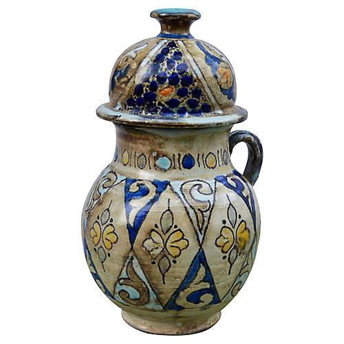Afro-Moresque Ceramic Vase