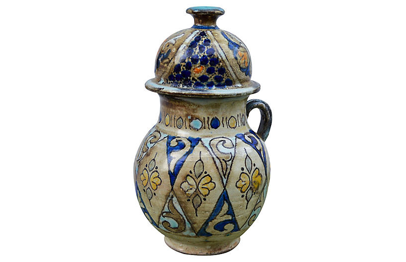 Afro-Moresque Ceramic Vase