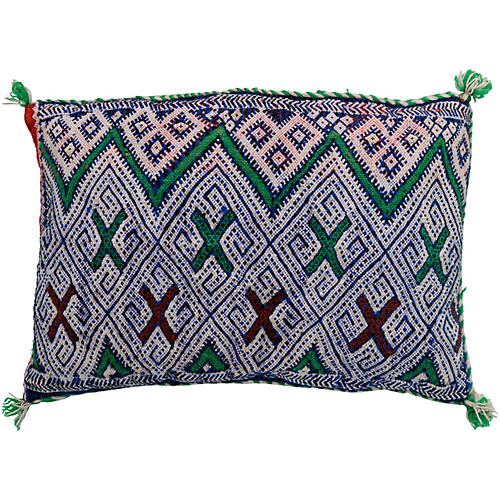 Berber-Patterned Moroccan Pillow