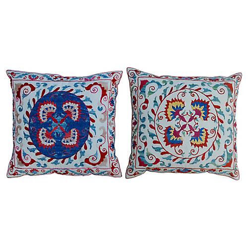 Silk Pillows, Pair