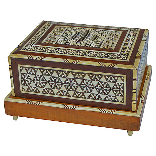 Cigar Box w/ Mother-of-Pearl Inlay