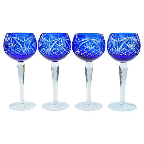 Blue Crystal Glasses, S/2