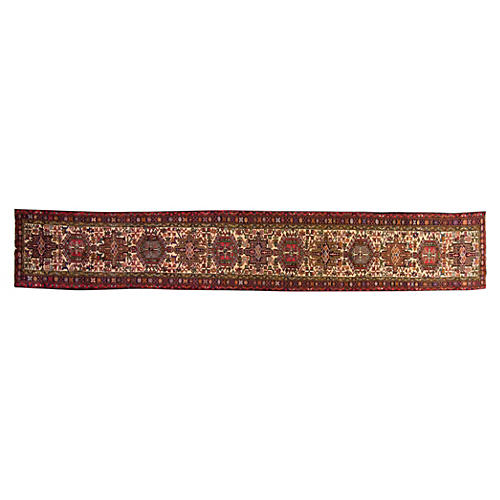 "Persian Heriz Runner, 2'6"" x 17'7"""