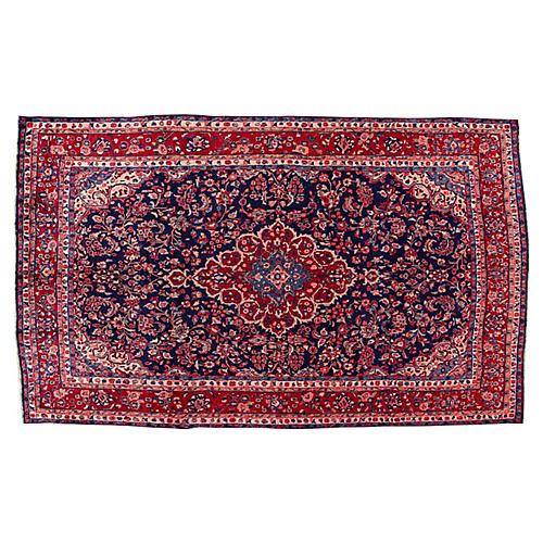 """Persian Sarouk Rug, 6'8"""" x 11'"""