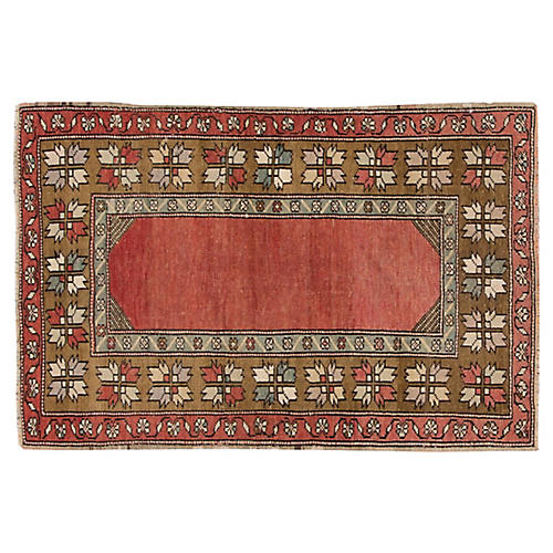 "Antique Anatolian Rug, 2'10"" x 4'3"""