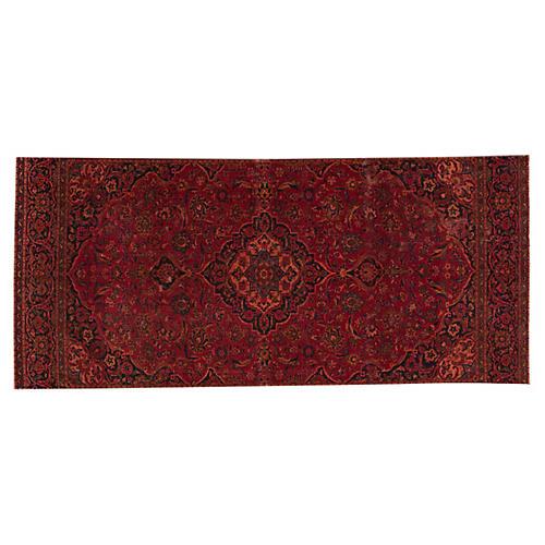 "Persian Overdyed Rug, 5' x 11'7"""