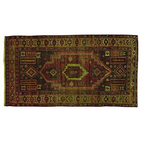 """Antique Turkish Rug, 4'3"""" x 8'"""