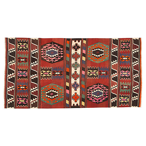 "Antique Turkish Kilim, 4'8"" x 9'3"""