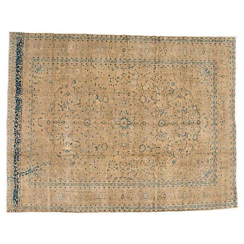 "Persian Tabriz Carpet, 9'9"" x 12'8"""