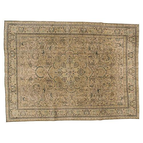 "Persian Tabriz Carpet, 9'6"" x 12'6"""