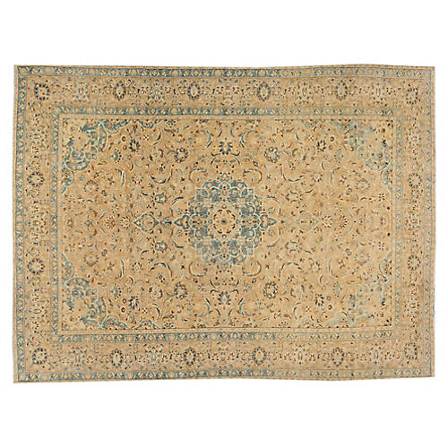 "Antique Tabriz Rug, 10' x 13'4"""