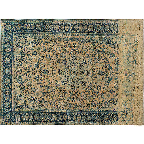 "Distressed Tabriz Rug, 8'4"" x 11'6"""