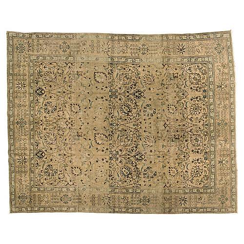 "Persian Tabriz Carpet, 9'9"" x 12'4"""
