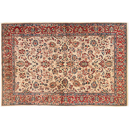 """Persian Rug, 6'1"""" x 9'3"""""""