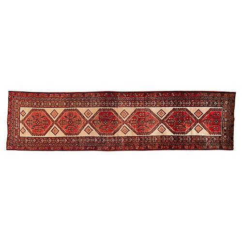 """Vintage Persian Runner Rug, 3'8"""" x 14'"""