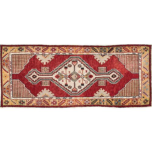 """Anatolian Oushak Rug, 2'7"""" x 6'2"""""""