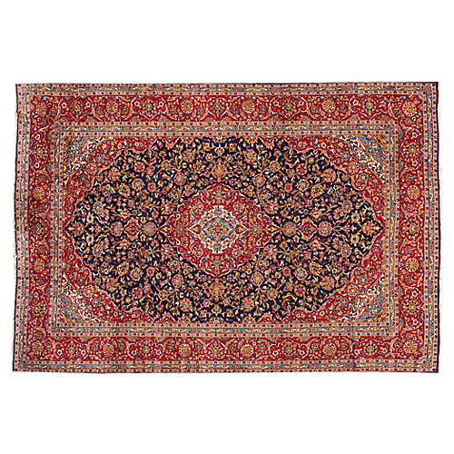 "Persian Kashan Carpet, 10' x 14'7"""