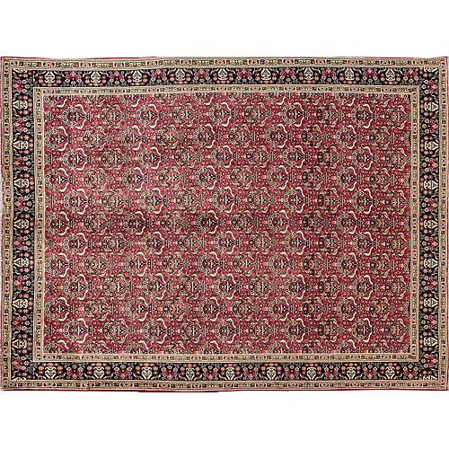 "Vintage Persian Tabriz, 9'3"" x 12'7"""