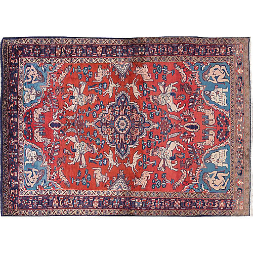 "Vintage Historic Persian, 4'10"" x 9'6"""