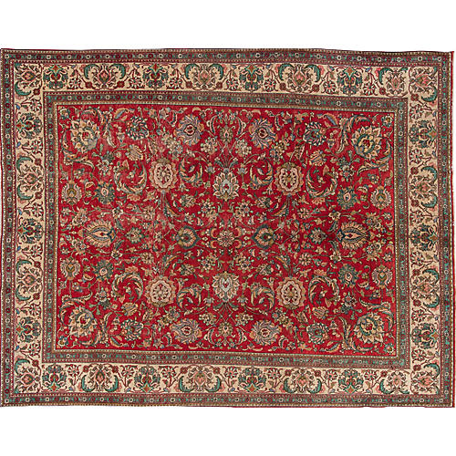 "Vintage Persian Tabriz, 9'4"" x 12'4"""
