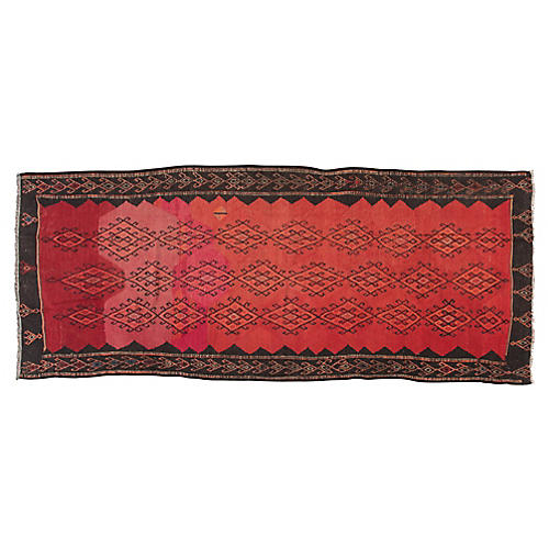 "Vintage Persian Kilim, 5'2"" x 13'"