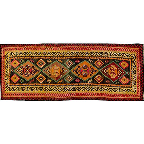 "Vintage Persian Kilim, 4'9"" x 13'"
