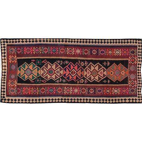 "Vintage Persian Kilim, 5'1"" x 12'2"""