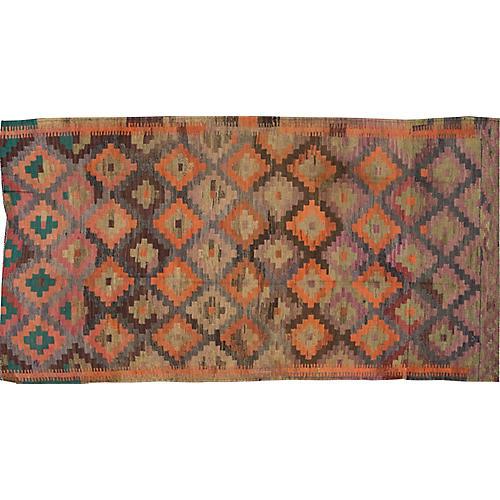 "Vintage Persian Kilim, 4'7"" x 9'"