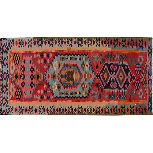 "Vintage Persian Kilim, 4'4"" x 8'10"""