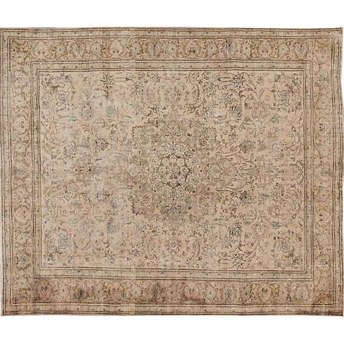 "Vintage Persian Tabriz, 10'1"" x 11'11"""