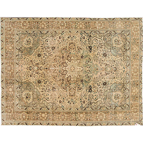 "Distressed Tabriz Rug, 8'1"" x 10'7"""