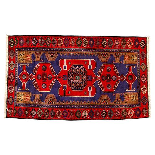 "Vintage Persian Hamadan, 4'3"" x 7'3"""