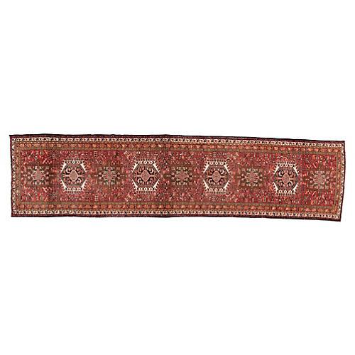 "Vintage Persian Rug, 3'4"" x 13'9"""
