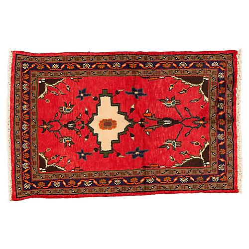 "Vintage Persian Rug, 3' x 4'10"""