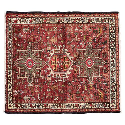 "Vintage Persian Heriz Rug, 2'9"" x 3'1"""