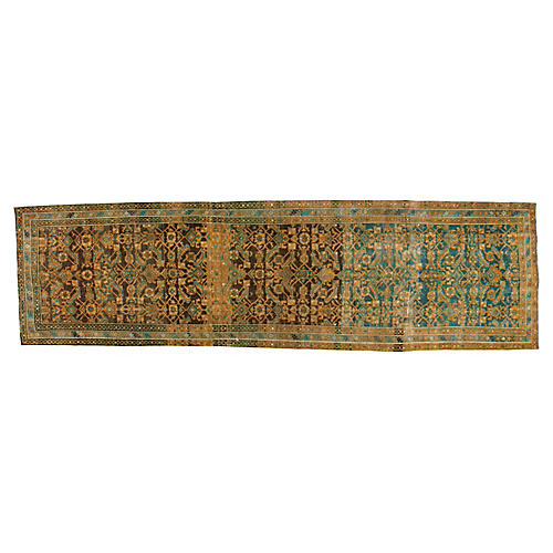 "Vintage Persian Malayer, 4'2"" x 15'"