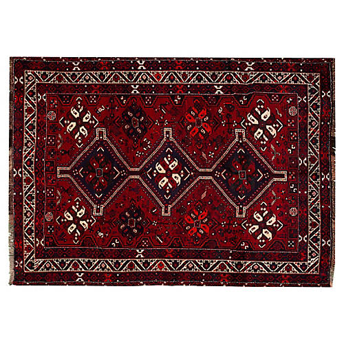 "Persian Shiraz Rug, 6'9"" x 9'4"""
