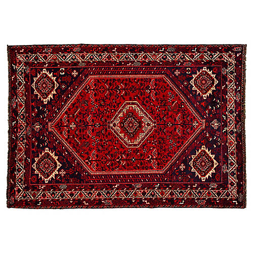 "Vintage Persian Shiraz Rug, 7'1"" x 10'2"""