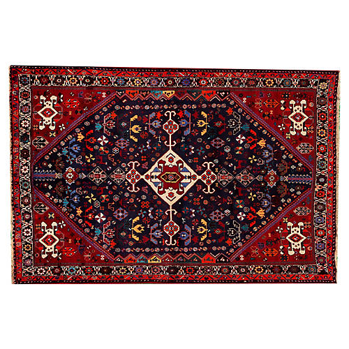 "Persian Shiraz Rug, 5'2"" x 7'9"""