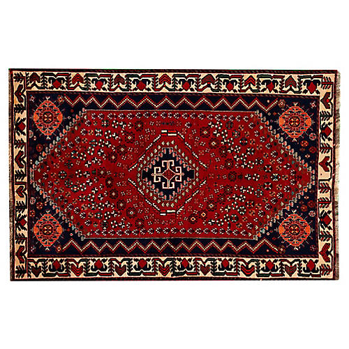 "Persian Shiraz Rug, 5'3"" x 8'1"""