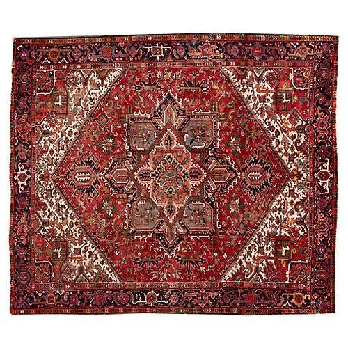 "Persian Heriz Carpet, 11'7"" x 13'8"""