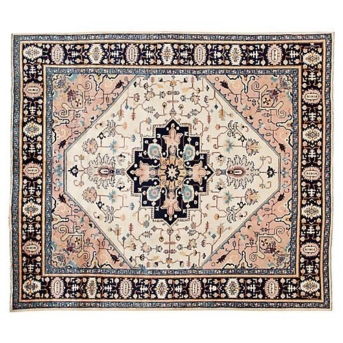 "Vintage Persian Heriz Rug, 7'10"" x 9'"