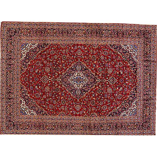"""Kashan Carpet, 9'6"""" x 13'1"""""""