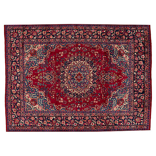 "Vintage Persian Mashad Rug, 8'3"" x 11'"